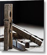 Clothespins Metal Print by Edward Fielding