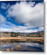 Cloud Above Dry Lagoon Metal Print
