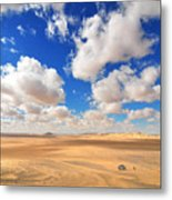 Cloudscape At Sahara Desert Metal Print