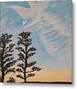 Cloud Angel In Acryics Metal Print