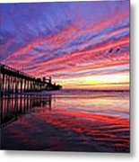 Cloud Color Waves Metal Print