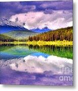 Cloud Cover On Lake Patricia Metal Print