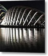 Cloud Forest And Flower Dome Metal Print