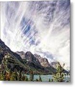 Cloud Formation At Saint Mary Lake Metal Print