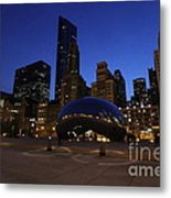 Cloud Gate Chicago At Sunset Metal Print