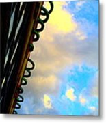 Cloud Loops Metal Print