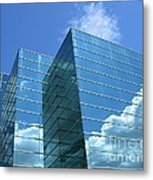 Cloud Mirror Metal Print