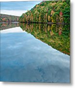 Lake - Cloud Mirror Metal Print