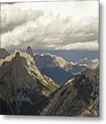 Cloud Over Rugged Mountain Peaks Banff Metal Print