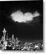 Cloud Over Seattle - Vertical Metal Print
