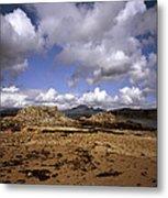 Cloud Passing Across The Cuillin Main Ridge And Bla Bheinn From Tokavaig Sleat Isle Of Skye Scotland Metal Print