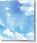 Cloud Shapes Metal Print
