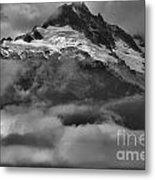 Cloud Smothered Peaks Metal Print