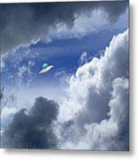 Cloud Surfing Metal Print