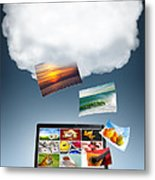Cloud Technology Metal Print by Carlos Caetano