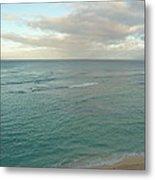 Clouded Sea Metal Print