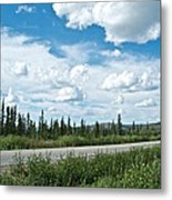 Clouds Above Taylor Highway To Chicken-ak Metal Print