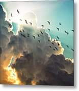 Clouds And Birds Metal Print by Dorothy Walker