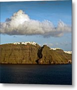 Clouds And Cliffs Metal Print