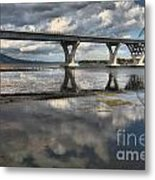 Clouds And Reflections Over Lake Champlain Metal Print