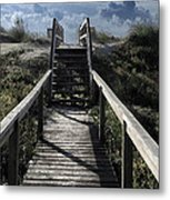 Clouds And Sand Dunes Metal Print by Patricia Januszkiewicz