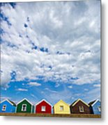 Clouds And Sheds Metal Print