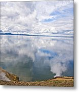 Clouds And Steam Metal Print