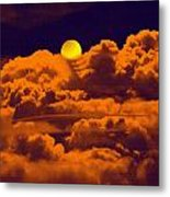 Clouds And The Moon Metal Print