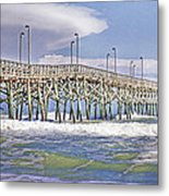 Clouds And Waves Metal Print