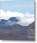 Clouds At Haleakala Metal Print