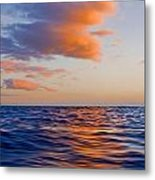 Clouds At Sunset - Racing Across The Water At Sunset Metal Print