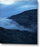 Clouds Cover The Mountains Of The Ice Metal Print