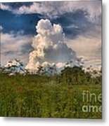 Clouds In A Field Metal Print