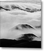 Maui Hawaii Haleakala National Park Clouds In Haleakala Crater II Metal Print