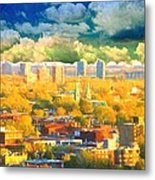 Clouds In The City Metal Print