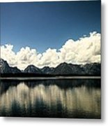 Clouds In The Grand Tetons Metal Print