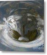 Clouds In Whirlpool Metal Print