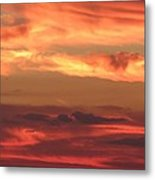 Clouds Of Figure Metal Print