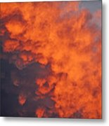 Clouds Of Fire Metal Print