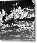 Clouds Of Freycinet Bw Metal Print