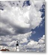 Clouds Of Glory - Portland Headlight Metal Print
