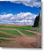 Clouds Over A Baseball Field, Field Metal Print