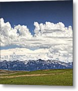 Clouds Over A Mountain Range In Montana Metal Print