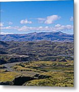 Clouds Over A Mountain Range, Torres Metal Print