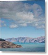 Clouds Over Akaroa Harbor, Akaroa Metal Print