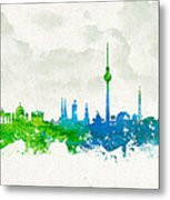 Clouds Over Berlin Germany Metal Print by Aged Pixel