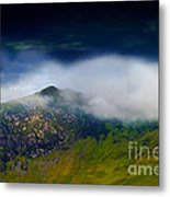 Clouds Over Bull Crag And Maiden Moor Metal Print