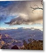Clouds Over Canyon Metal Print
