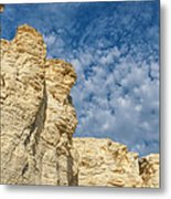 Clouds Over Chalk Pyramids Metal Print