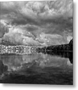 Clouds Over Crystal Lake Metal Print by Kevin Kludy